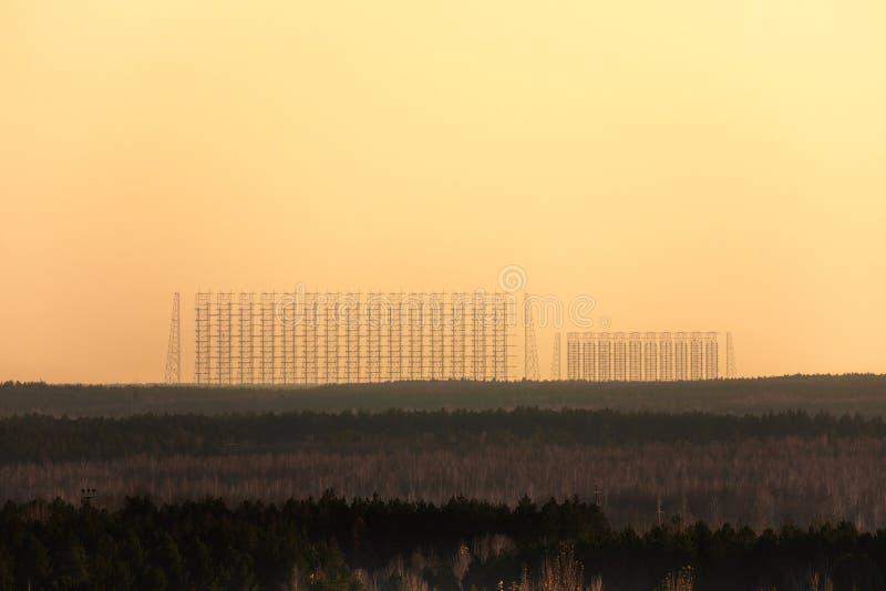 Dugaantenne Complex in de Uitsluitingsstreek 2019 van Tchernobyl royalty-vrije stock afbeeldingen