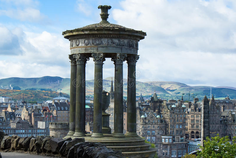 Dugald Stewart Monument em Edimburgo imagem de stock royalty free
