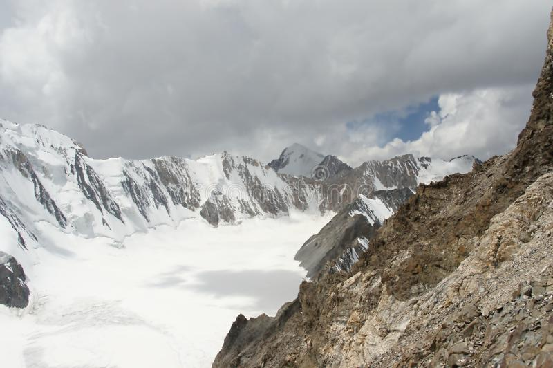 Dugoba lodowiec, Pamir zdjęcie stock