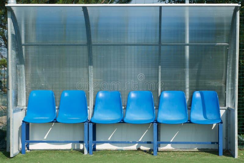 Dugout van de voetbal royalty-vrije stock foto's
