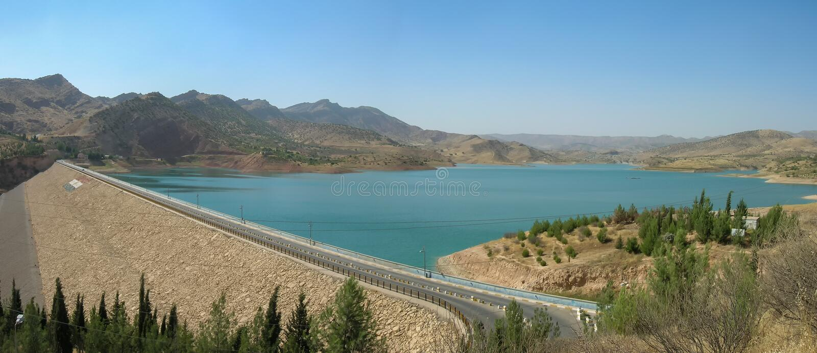 Duhok Dam in Kurdistan, near the city of Duhok. The Dohuk Dam is an earth-fill embankment dam on the Dohuk River just north of Dohuk in Dahuk Governorate, Iraq royalty free stock images