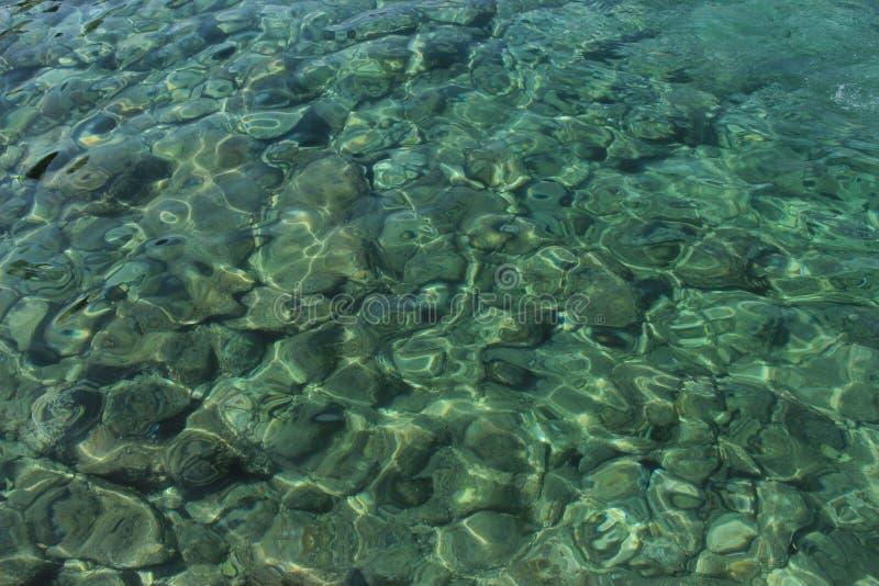 Duidelijk, blauw water weg van Cavtat, Kroatië royalty-vrije stock foto's