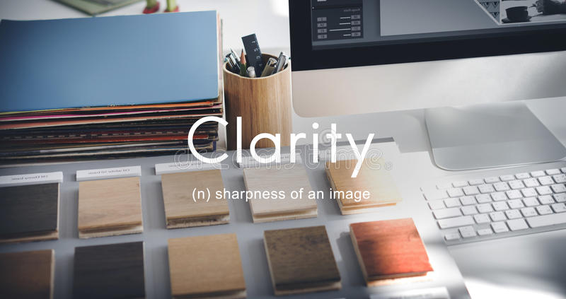 Duidelijk de Creativiteit Zichtbaar Eenvoudig Concept van het duidelijkheidsontwerp stock foto's
