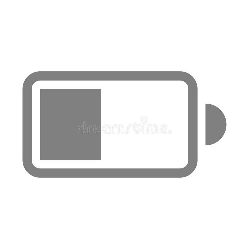 Duidelijk elektrisch batterijpictogram op witte achtergrond vector illustratie