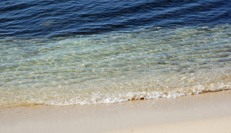 Duidelijk strand royalty-vrije stock afbeeldingen
