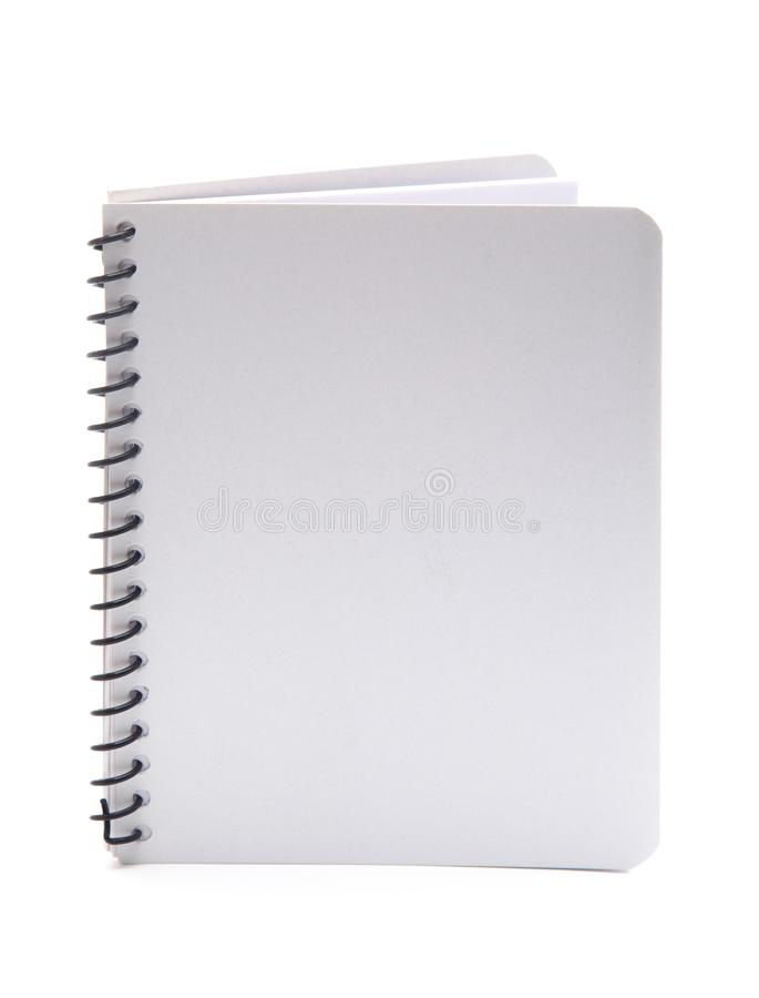 Duidelijk Wit Notitieboekje royalty-vrije stock afbeelding