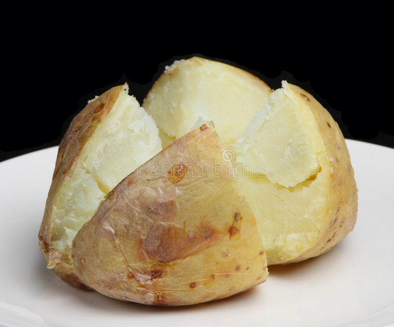 Duidelijke Aardappel in de schil royalty-vrije stock afbeeldingen