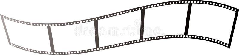 Duidelijke de golf van de film vector illustratie