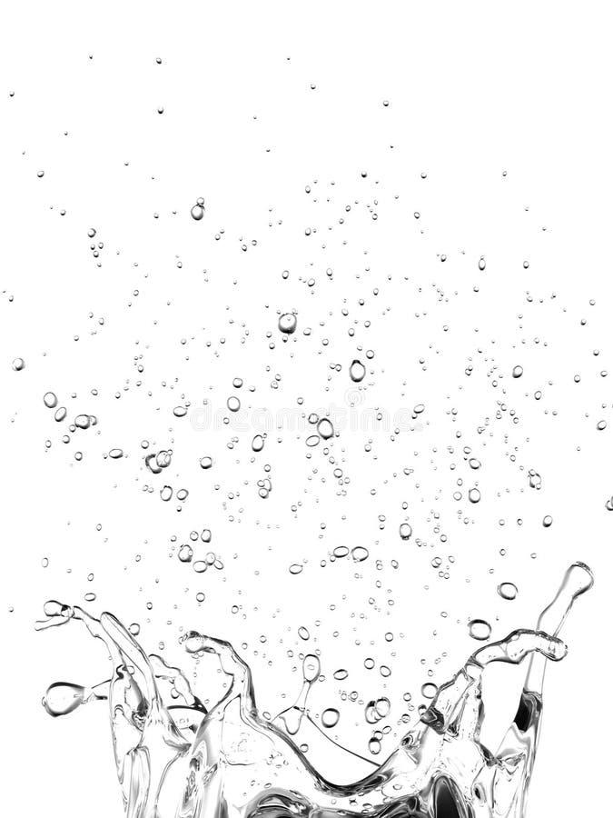 Duidelijke de plons van het water stock illustratie
