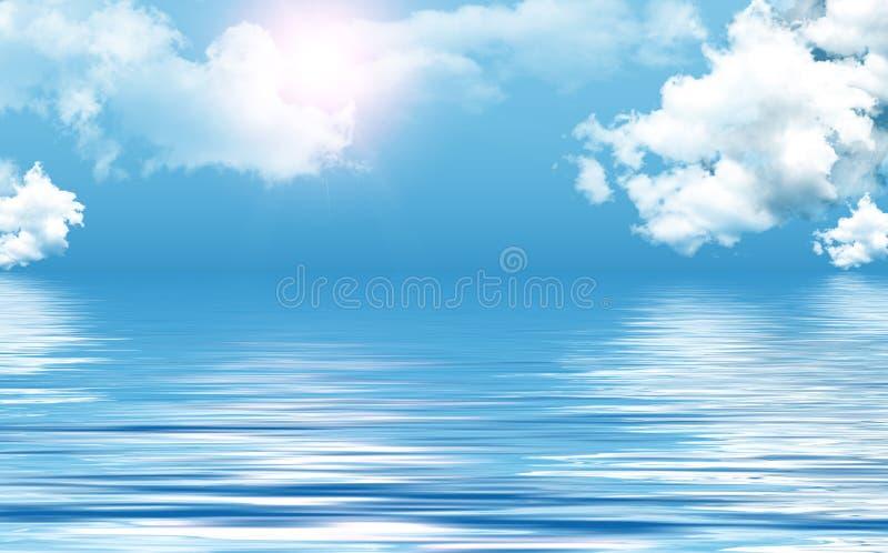 Duidelijke hemel over overzees stock fotografie