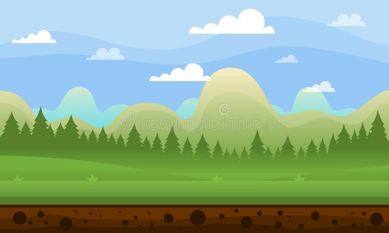 Duidelijke het Spelachtergrond van de Hemelberg vector illustratie