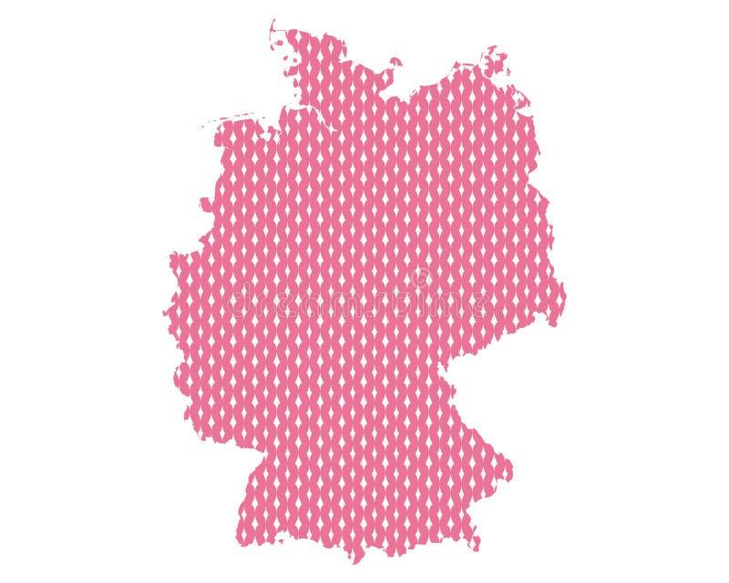 Duidelijke kaart van Duitsland stock illustratie