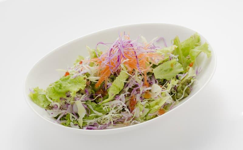 Duidelijke saladeplaat stock afbeeldingen
