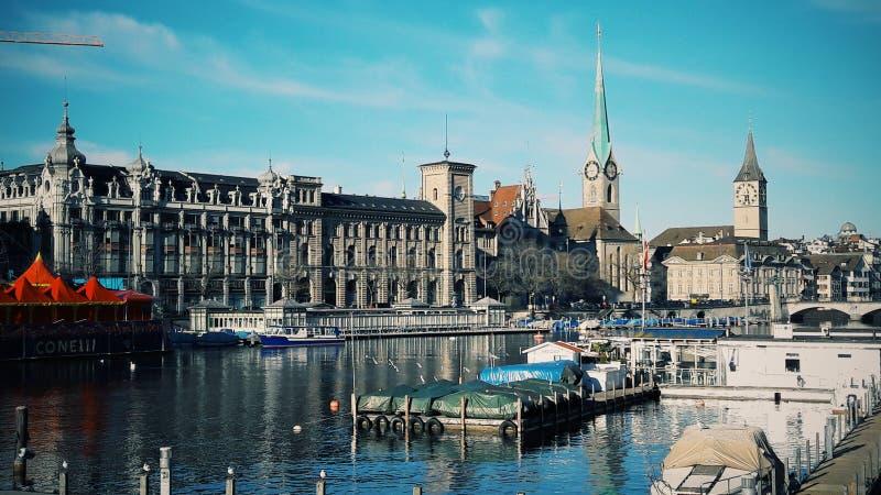 Duidelijke schoonheid van Zürich royalty-vrije stock afbeelding