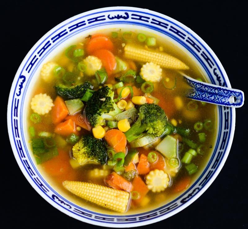 Duidelijke soep-bouillon stock afbeeldingen
