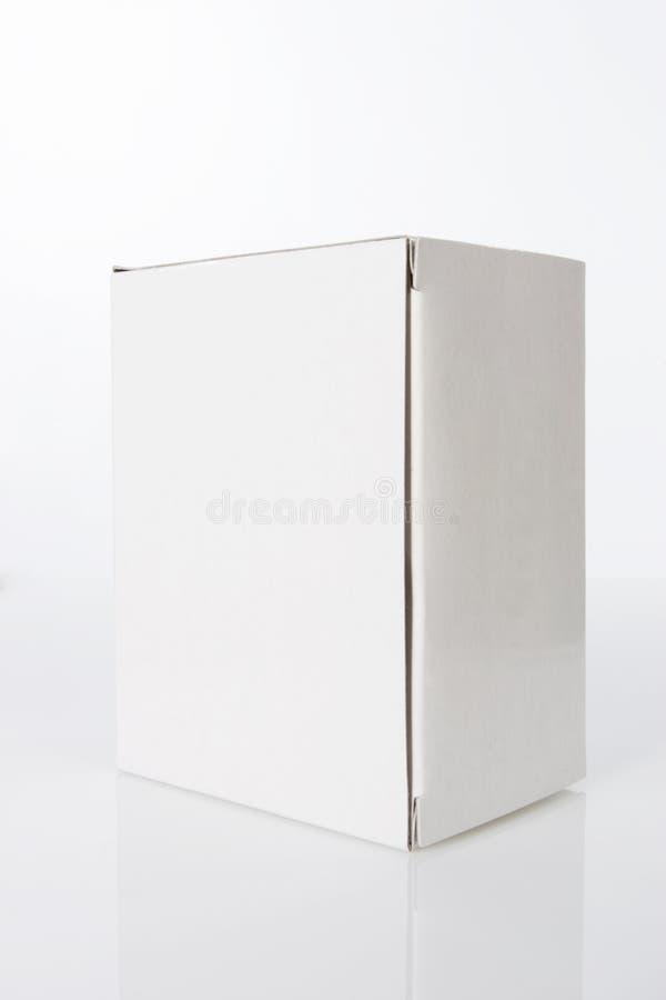 Duidelijke Witte doos royalty-vrije stock fotografie