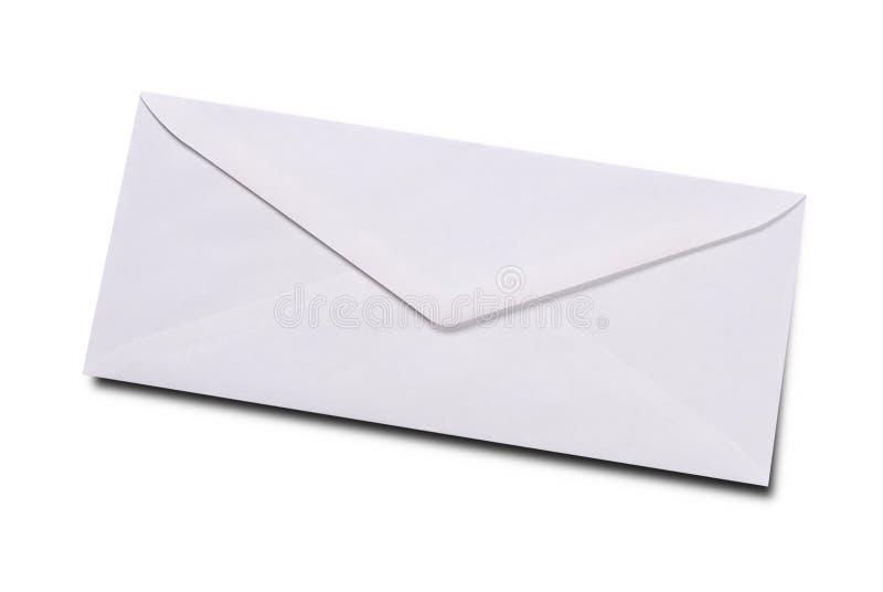 Duidelijke witte envelop royalty-vrije stock fotografie