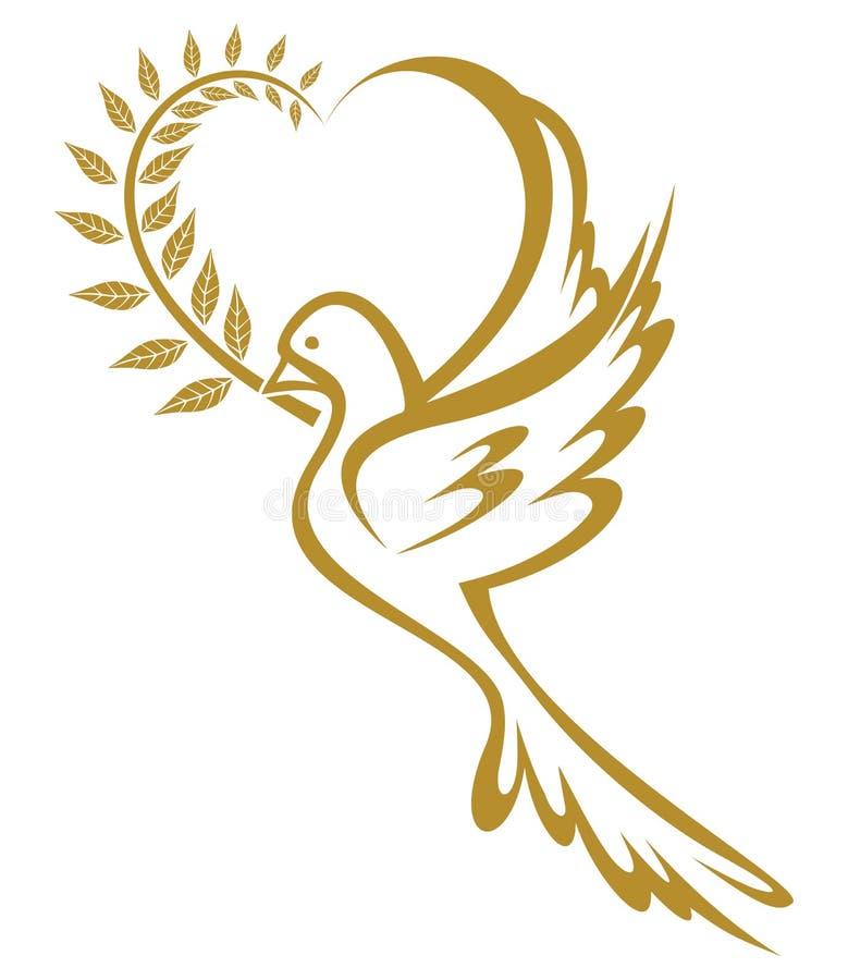 Duif van Vrede stock illustratie