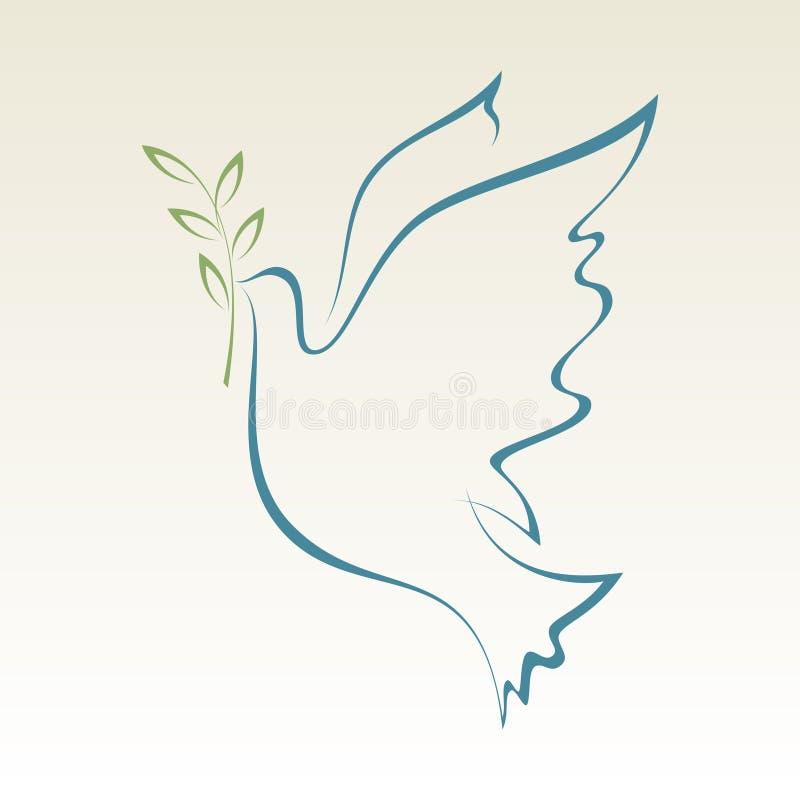 Duif van Vrede stock afbeelding