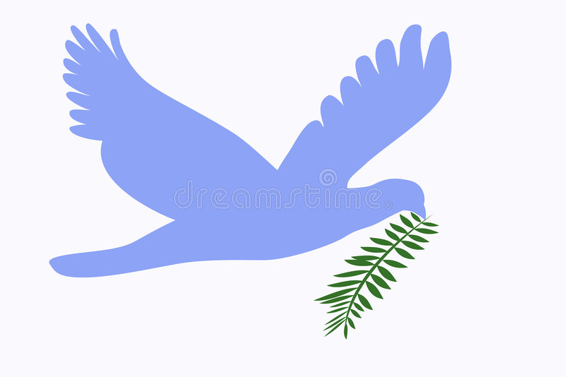 Duif van vrede met takje vector illustratie
