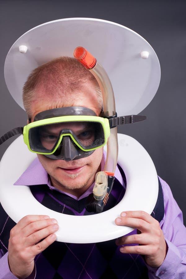 Duiker in toilet royalty-vrije stock foto's