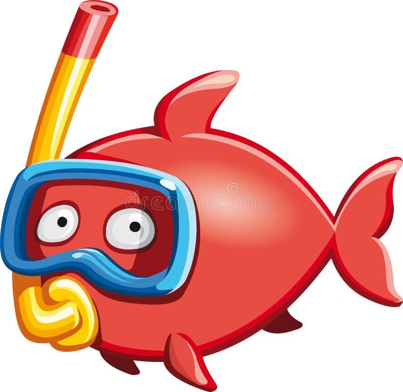 Duikervissen stock illustratie