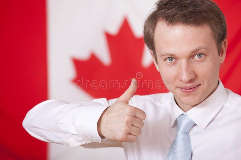 Duim omhoog voor Canada royalty-vrije stock afbeeldingen