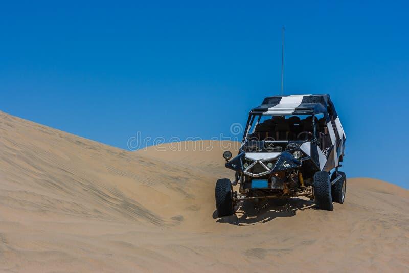Duin met fouten over een zandduin in de woestijn, Huacachina, Ica, Peru royalty-vrije stock foto