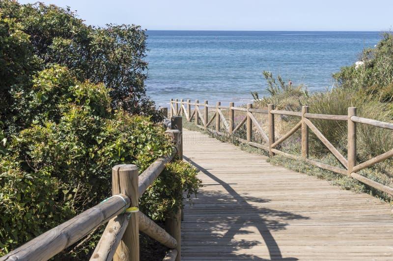 Duinen van artola natuurlijke die reserve in Cabopino Marbella Costa del Sol Malaga Spain wordt gevestigd stock foto's
