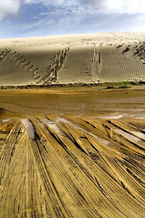 Duinen van het Zand van Paki van Te Reuze II stock afbeeldingen