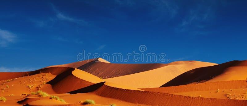Duinen van Woestijn Namib royalty-vrije stock afbeelding