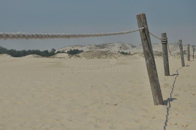 Duinen Zand in de woestijn Slowinski Nationaal Park royalty-vrije stock afbeelding