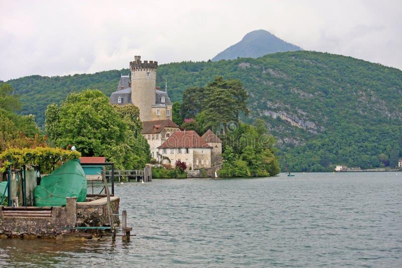 Duingt Chateau, Meer Annecy royalty-vrije stock fotografie