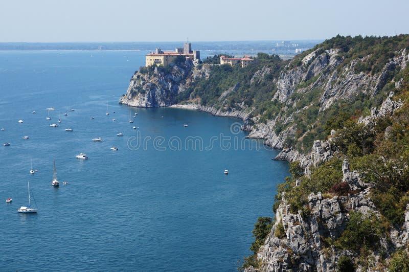 DUINO CASTLE Italy royalty free stock photos