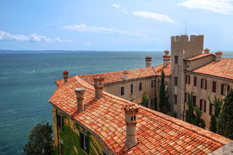 Duino Castle, Italy royalty free stock photography