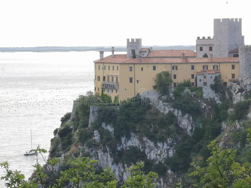 Duino castle stock image