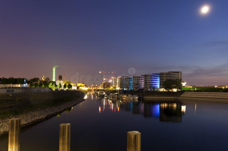 duisburg港口内在海滨广场 库存照片
