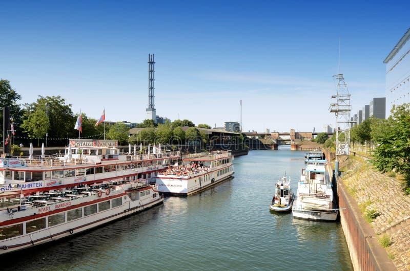 Duisburg Inner Harbour  -Cruise Ships Gerhard Mercator Editorial Photography