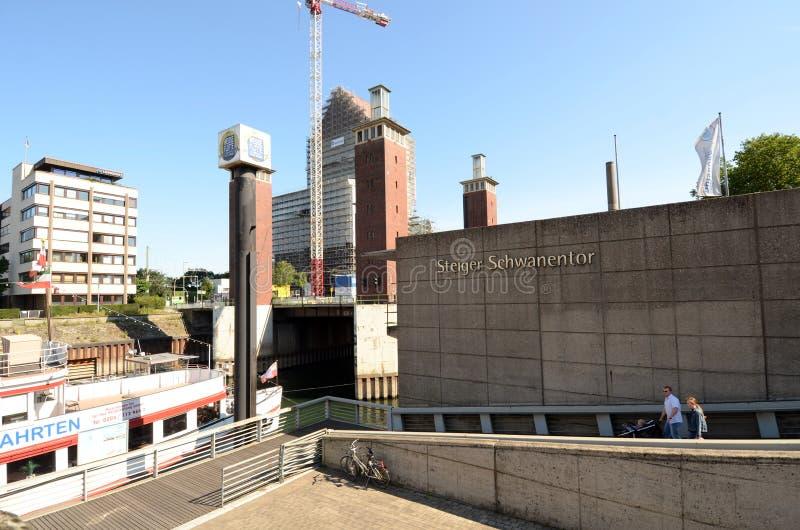 Download Duisburg Inner Harbour -Moving Bridge Editorial Image - Image: 28210930
