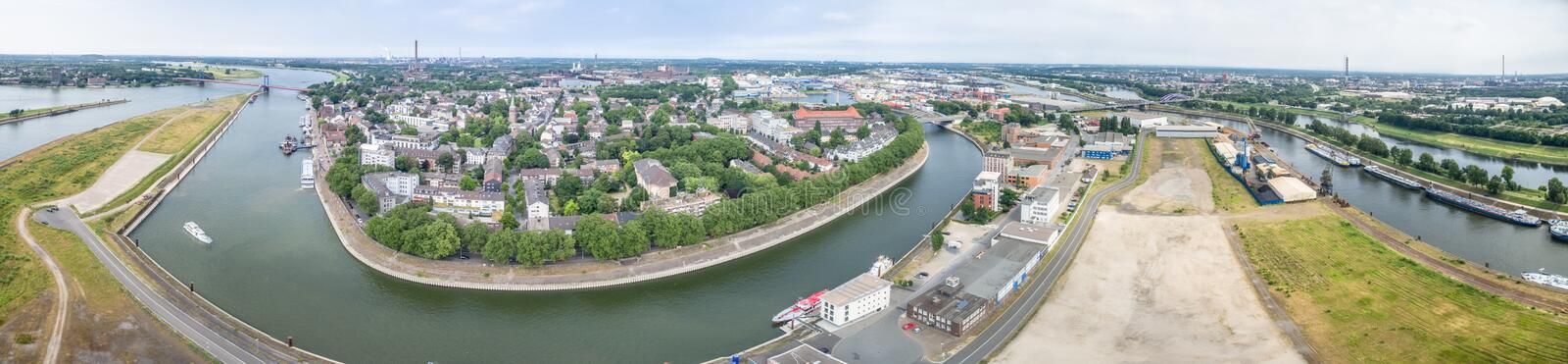 Download Duisburg Ruhrort aerial editorial photo. Image of historic - 83702711