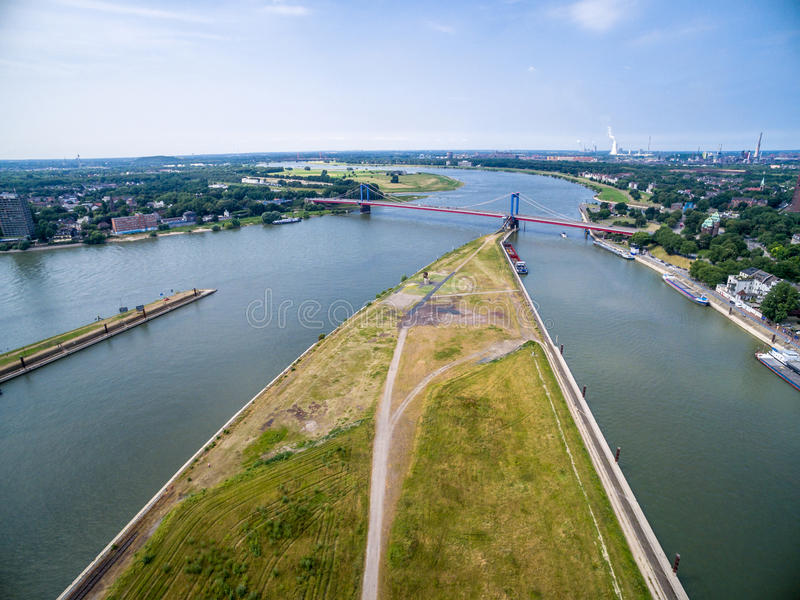 Download Duisburg Ruhrort aerial editorial image. Image of house - 83702840