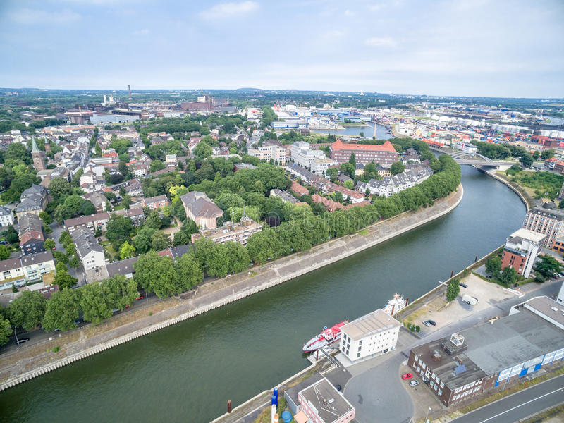 Download Duisburg Ruhrort aerial editorial image. Image of view - 83703385