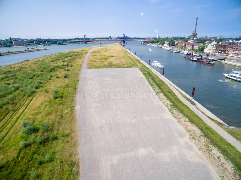Download Duisburg Ruhrort aerial editorial photo. Image of skyline - 83703671