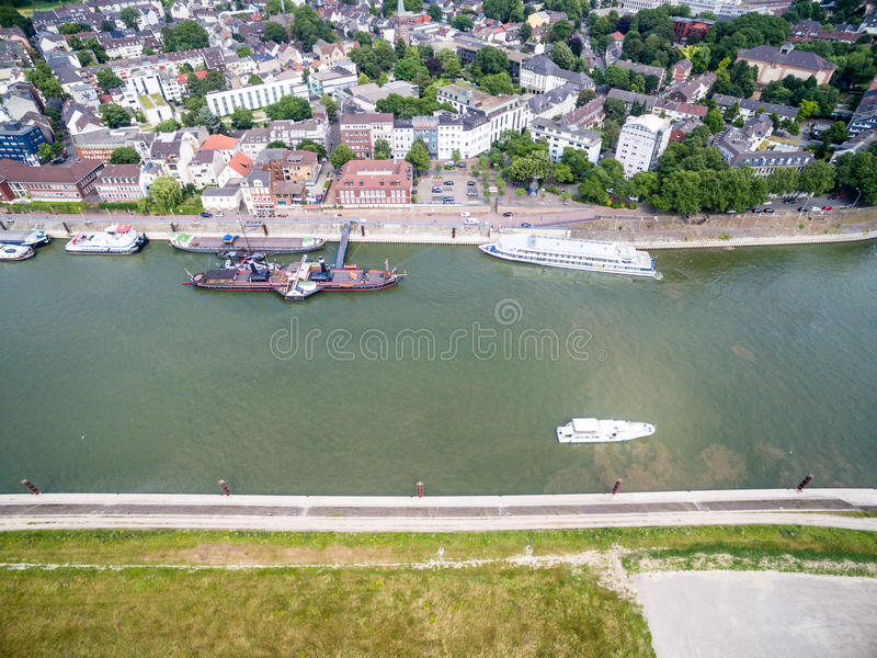 Download Duisburg Ruhrort aerial editorial stock photo. Image of house - 83703818
