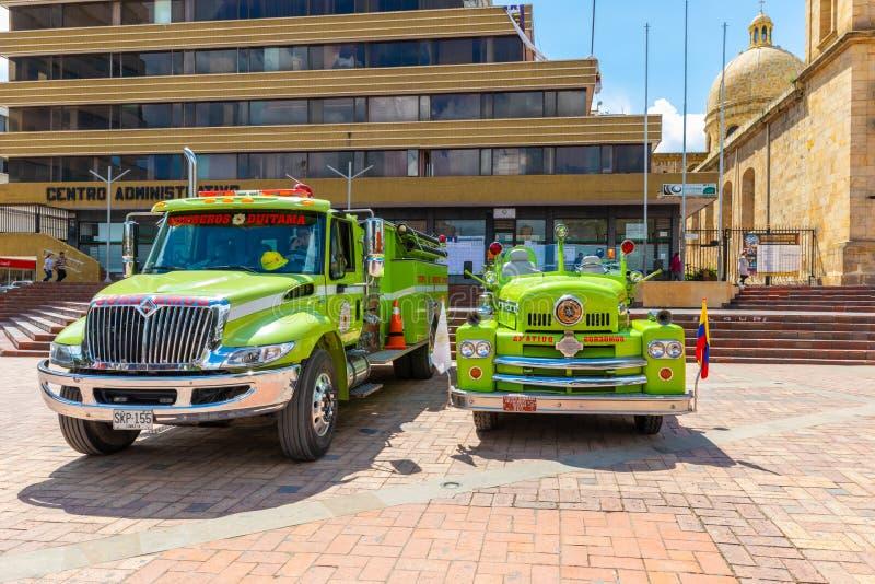 Duitama Kolumbia jednostki straży pożarnej pojazdy obraz stock