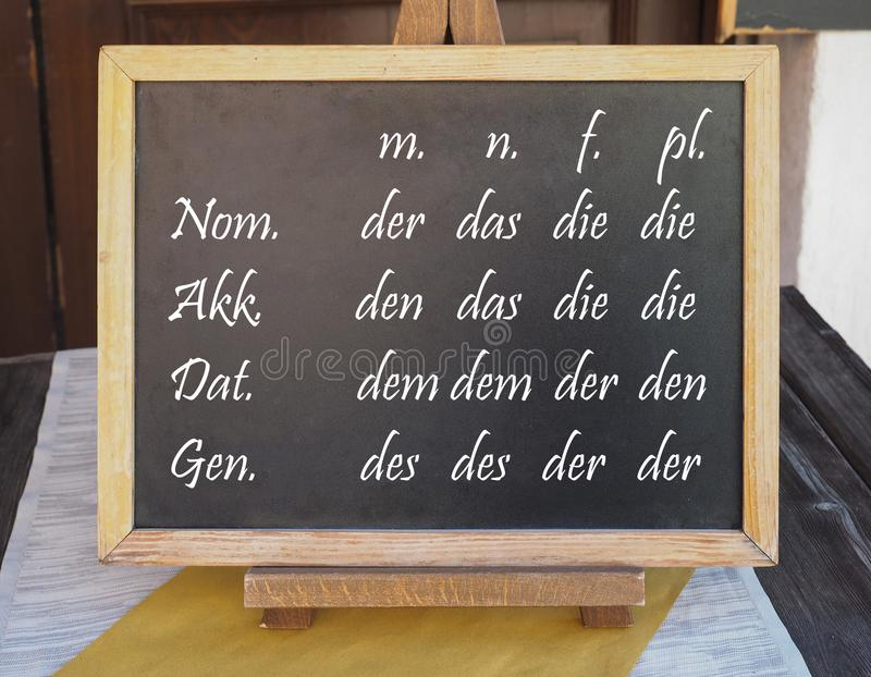Duits Bepaald lidwoord royalty-vrije stock foto