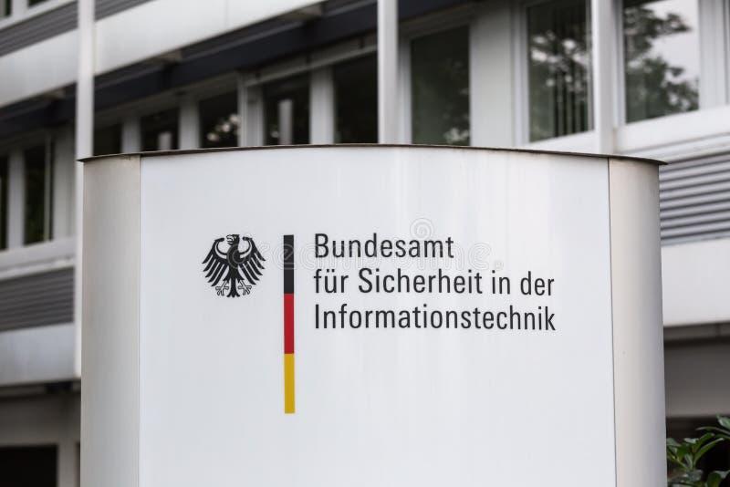 Duits bureau voor veiligheid in informatietechnologie stock afbeeldingen
