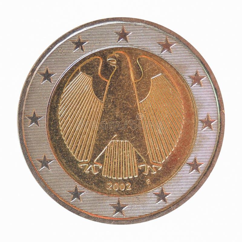 Duits Euro muntstuk royalty-vrije stock foto