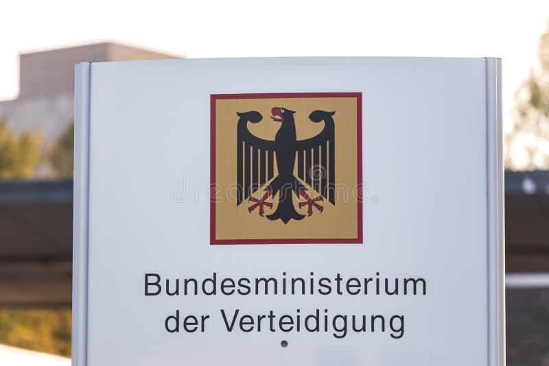 Duits Federaal ministerie van defensie Bonn Duitsland royalty-vrije stock fotografie
