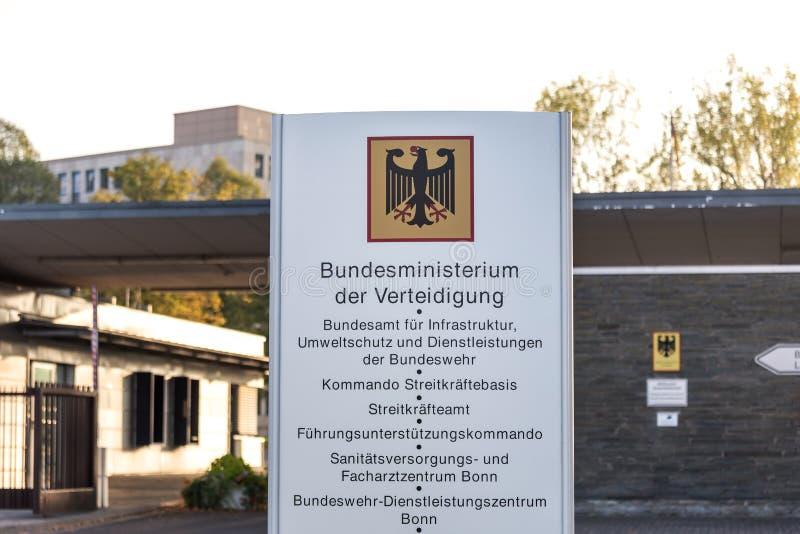 Duits Federaal ministerie van defensie Bonn Duitsland stock fotografie